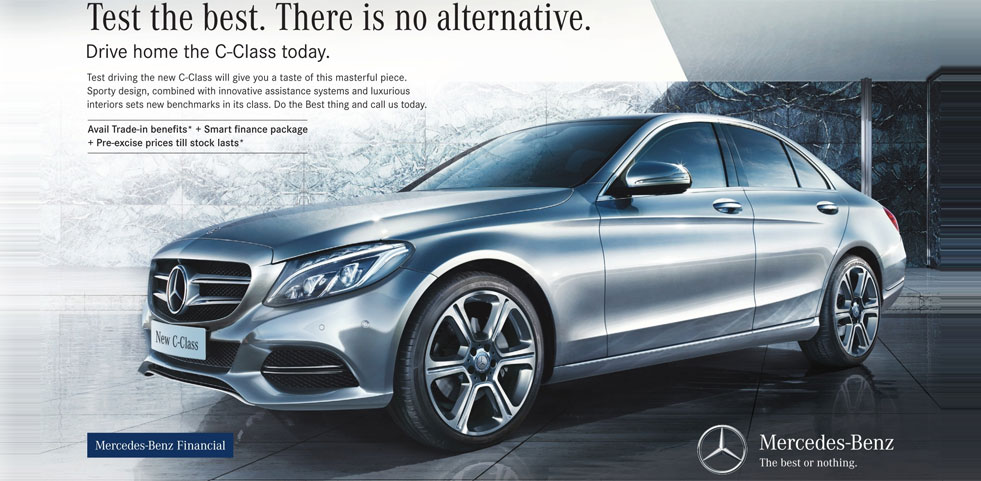Mercedes benz c class offer offer in delhi for Mercedes benz c class offers