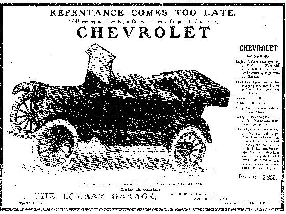 Early Chevrolet Advertisement
