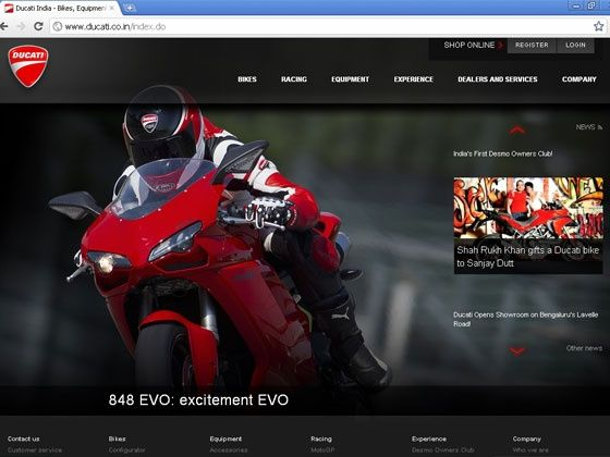ducati india now has a dedicated website for indian bike lovers