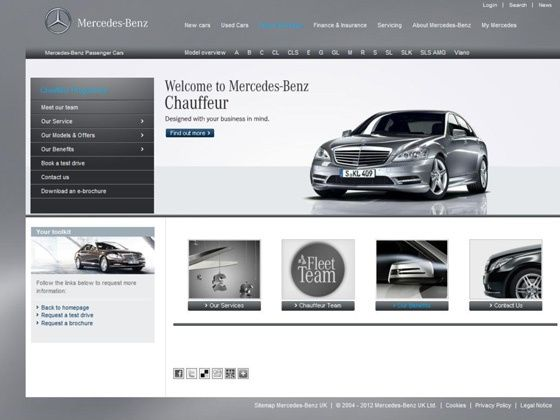 New chauffer site for Mercedes-Benz customers