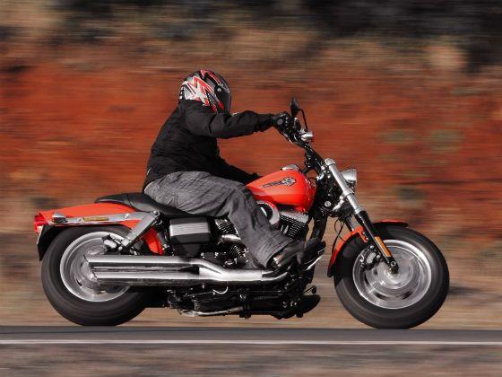 Harley-Davidson Fat Bob in action