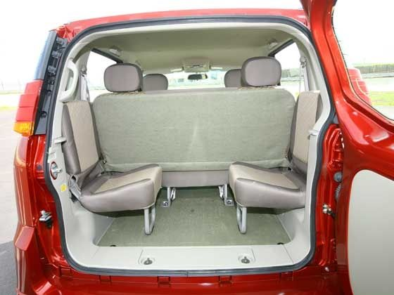 Mahindra Quanto third row foldable seating
