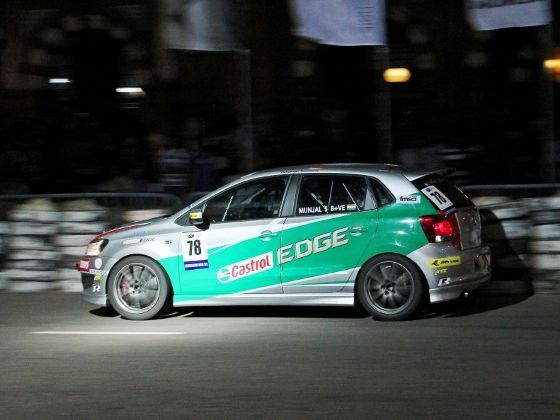 Munjal Savlas Polo R Cup car at 2012 Colombo Night Races