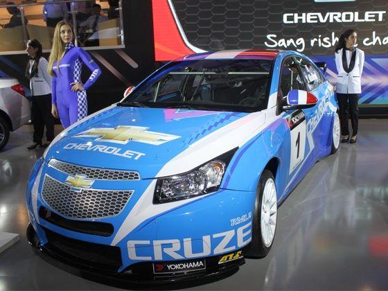 Chevrolet Cruze WTCC Cup Car at Delhi Auto Expo 2012