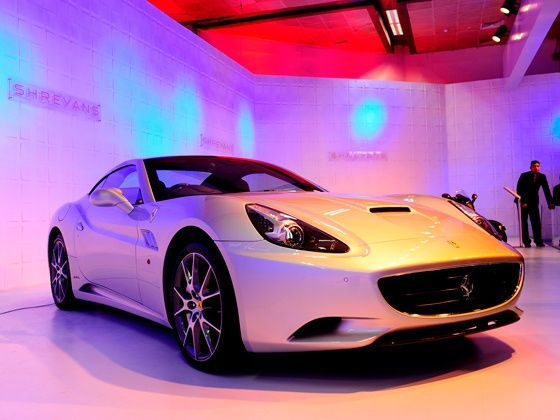 Ferrari California on display at the 2012 Auto Expo
