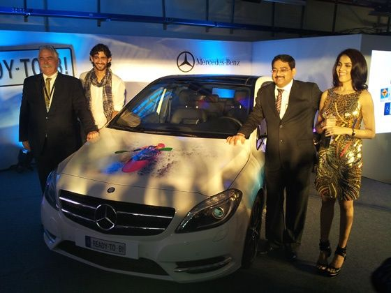 New Mercedes-Benz B-Class unveiled at the Buddh International Circuit