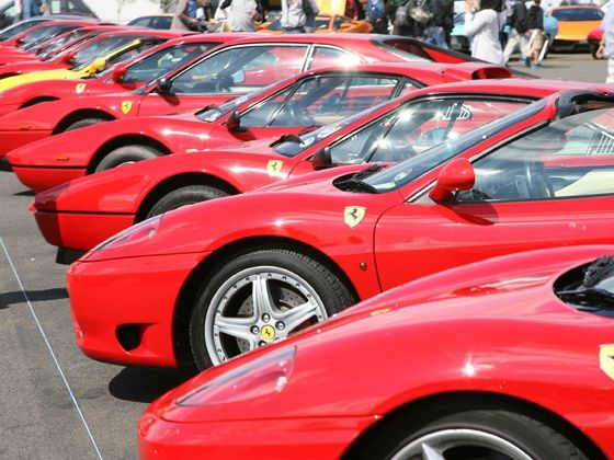 Ferraris at the Silverstone Classic
