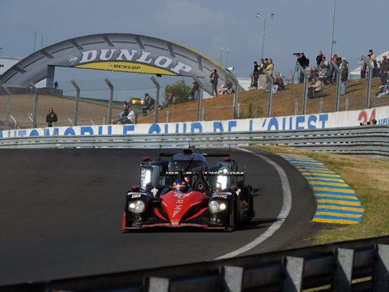 Karun Chandhok driving for the JRM Team at the 24 Hours of Le Mans