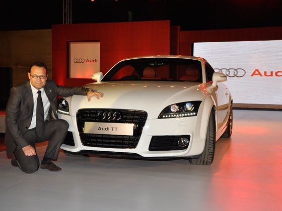Audi India Head Michael Perschke    at the Audi TT launch in Mumbai