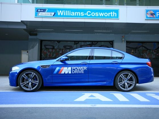 New BMW M5 BIC Test Drive