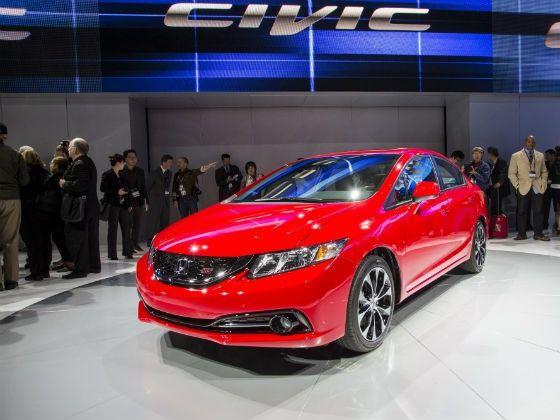 Honda Civic 2013 LA Auto Show exterior red