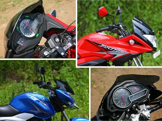 Bajaj Discover 125ST and Hero Ignitor Speedometer and looks