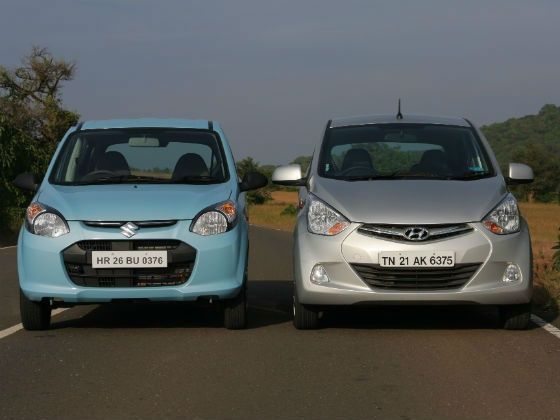 Maruti Alto and Hyundai Eon