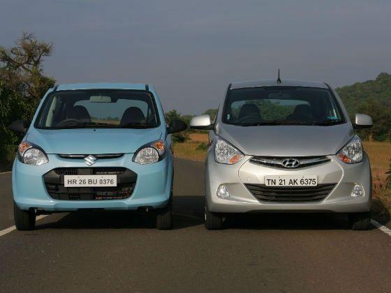 Maruti Alto and Hyundai Eon