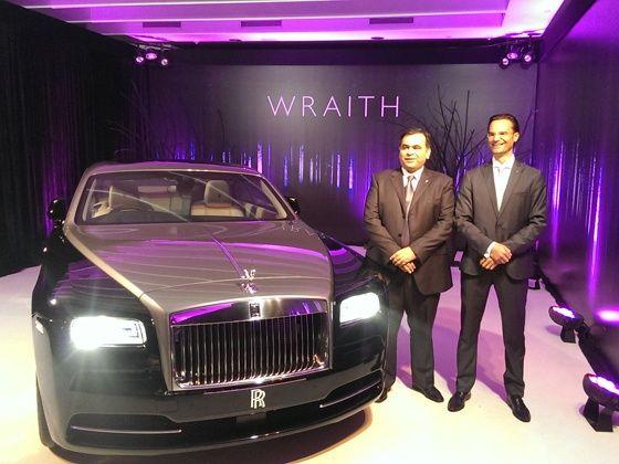 Rolls-Royce Wraith launch pic