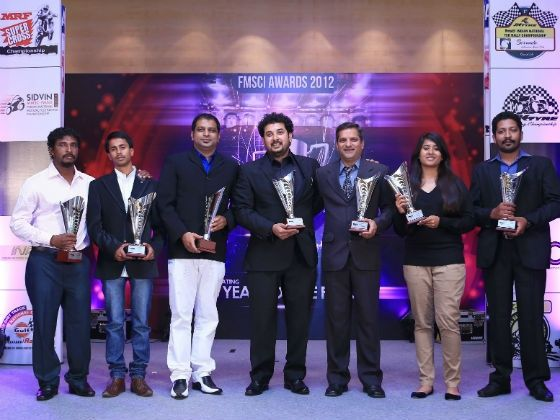 Winners of the first ever Indian National Autocross Championship at the FMSCI Awards