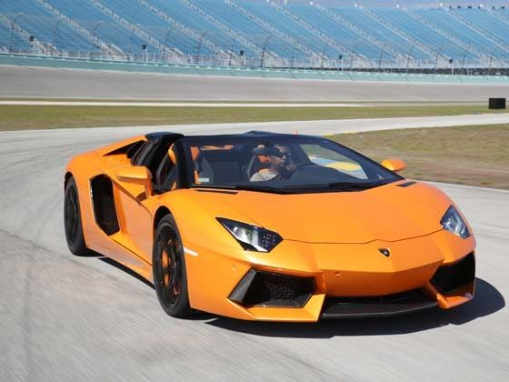 Lamborghini Aventador Roadster at the Homestead Speedway in Miami