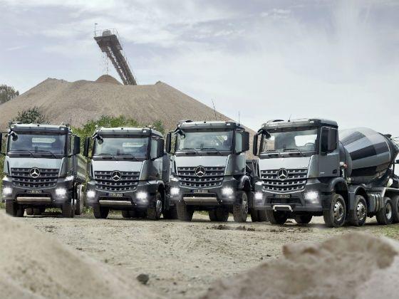 The Arocs range of trucks