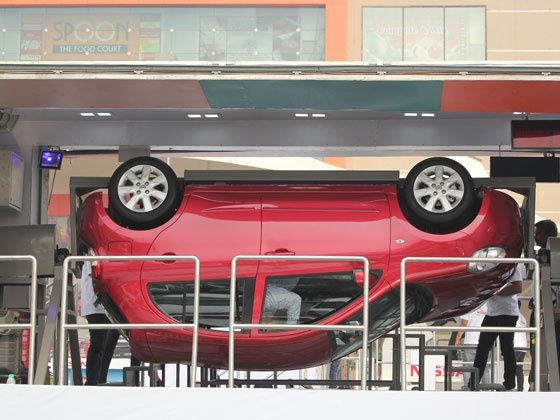 Nissan rollover demonstration