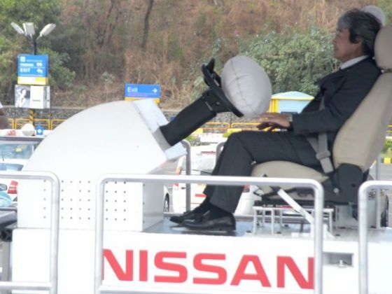 Nissan Safety Driving Forum Airbag simulator