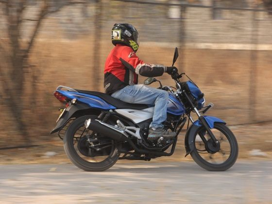 bajaj discover 110T first ride action