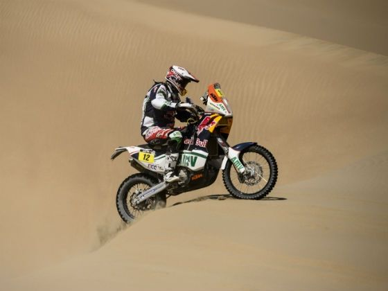 Joan Pedrero in action at 2013 Dakar Rally