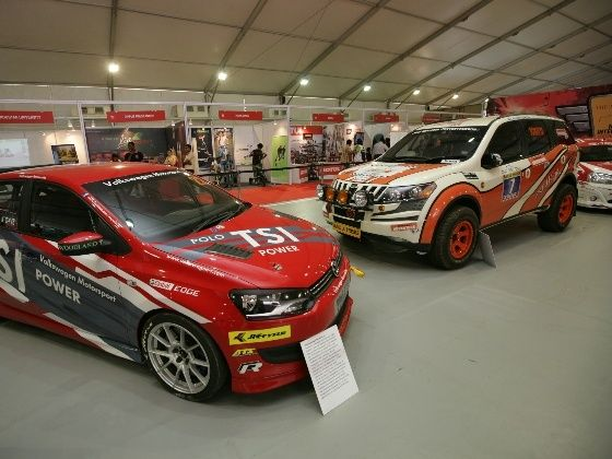 Motorsport pavillion at Mumbai International Motor Show 2013