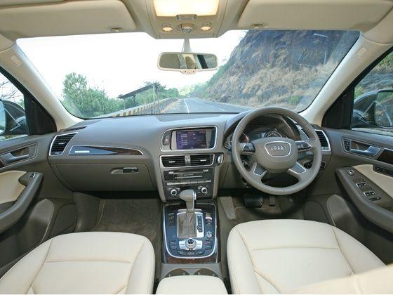 New Audi Q5 cabin area