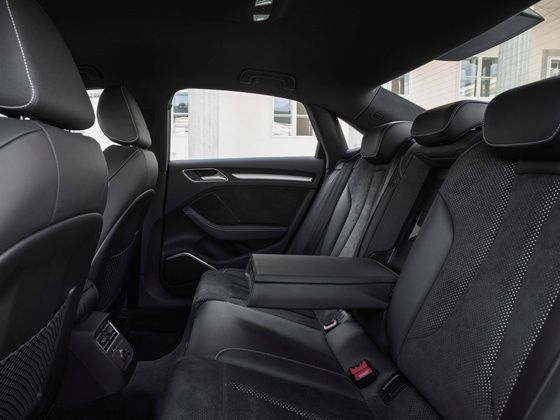 Audi A3 saloon rear seating