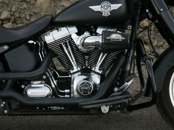 The Fatboy Special had the optional Screamin Eagle air-filter & exhaust system