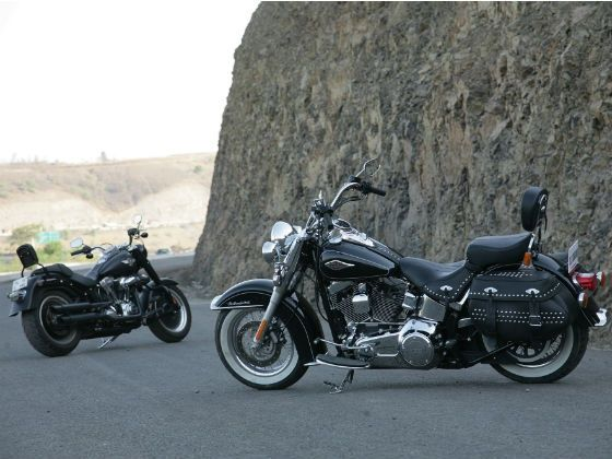 Harley-Davidson Softail Heritage and Fatboy Special static shot