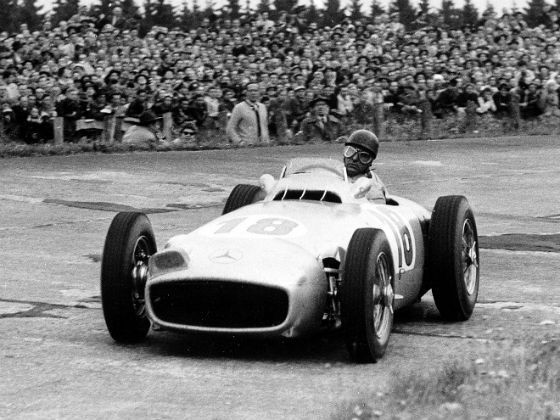 Mercedes-Benz type W 196 Rin action at a Grand Prix race