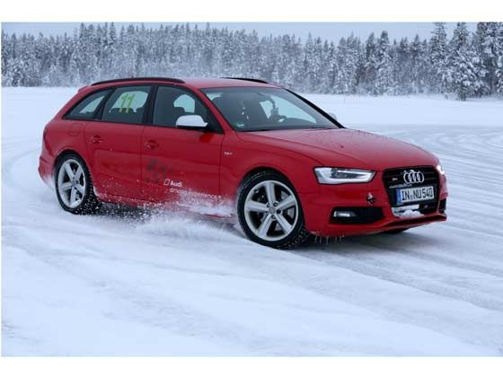 Audi Ice Drive Experience - bright red Audi S4 quattro Avants