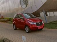 Mahindra e2o parked outside the Karnataka facility