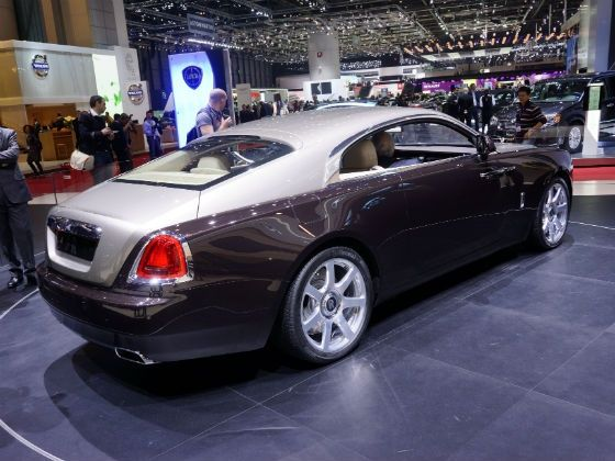 Rolls Royce Wraith on display at Geneva rear shot