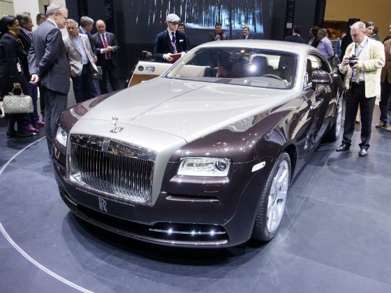 Rolls Royce Wraith on display at Geneva