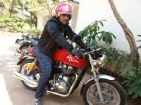 Siddhartha Lal, CEO, Eicher Motors aboard the Continental GT
