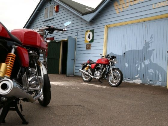 Royal Enfield Continental GT side and rear shot