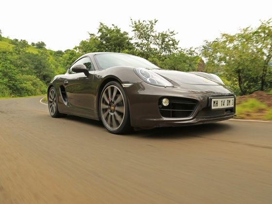 Porsche Cayman S action shot