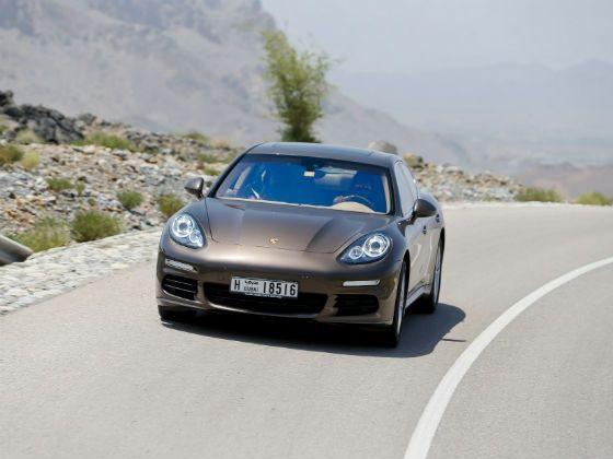 Porsche Panamera action shot