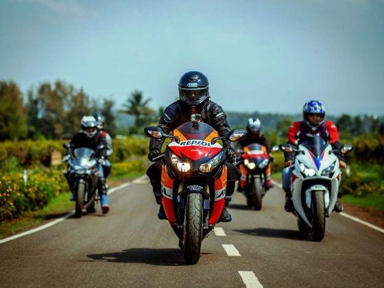 Honda Big Bike Ride action shot
