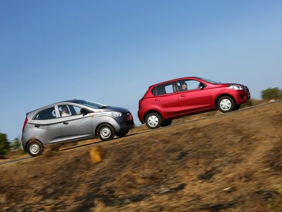 Datsun Go vs Hyundai Eon Comparison Side