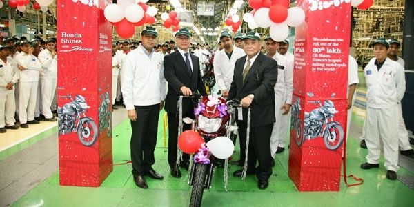 Honda CB Shine touches 30 lakh mark