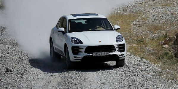 Porsche Macan Turbo action shot