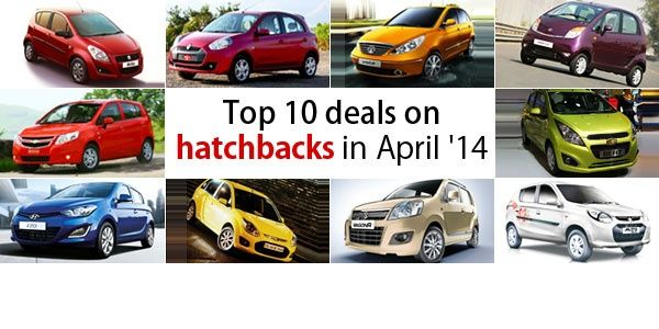 Top 10 deals on hatchbacks in April 2014