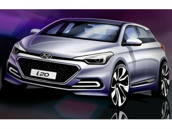 2014 Hyundai i20 rendering front
