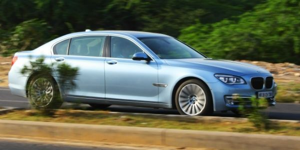 BMW ActiveHybrid 7 L in action