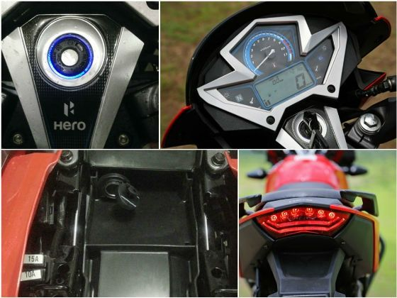 2014 Hero Xtreme - Instrumentation and features