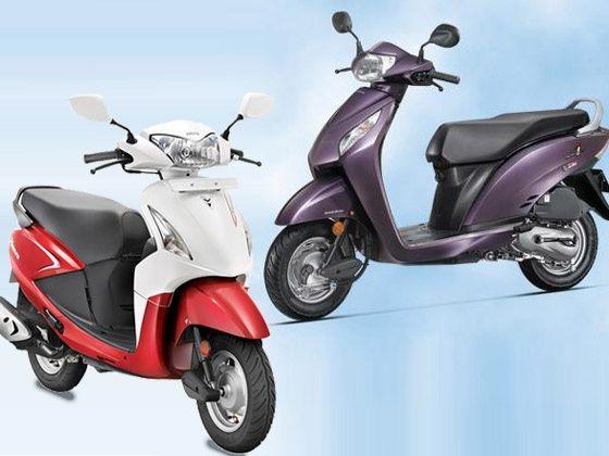 Honda Activa i and Hero Pleasure scooter comparison India