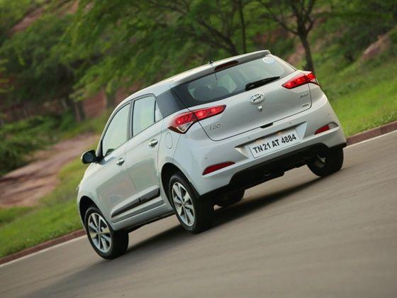 Hyundai Elite i20 rear action shot